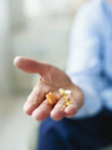 Man-holding vitamins